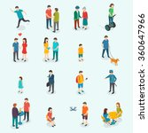 Isometric 3d vector people. Set of woman and man. Vector illustration | Shutterstock vector #360647966
