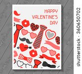 happy valentines day greeting... | Shutterstock .eps vector #360650702