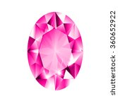 oval diamond with pink colored...   Shutterstock .eps vector #360652922