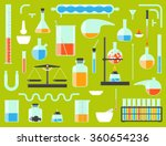 set of chemical laboratory... | Shutterstock .eps vector #360654236