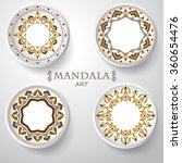 set of four plates with... | Shutterstock .eps vector #360654476