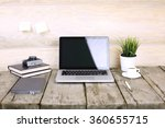 place of work. close up top... | Shutterstock . vector #360655715