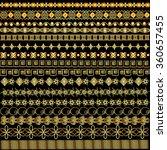 illustration set of borders...   Shutterstock .eps vector #360657455
