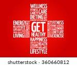 get healthy word cloud  health... | Shutterstock .eps vector #360660812