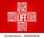 a better life word cloud ... | Shutterstock .eps vector #360660836