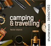 camping and travelling template ... | Shutterstock .eps vector #360667352
