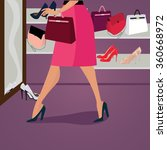 vector fashion clothes and... | Shutterstock .eps vector #360668972