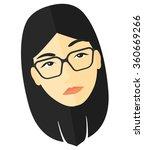 doubtful young woman. | Shutterstock .eps vector #360669266