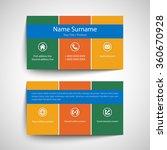 modern simple business card set ... | Shutterstock .eps vector #360670928