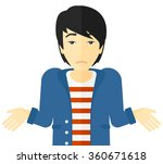 confused man shrugging his... | Shutterstock .eps vector #360671618