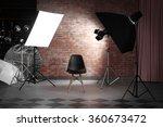 Empty Photo Studio With...