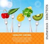 healthy diet food concept | Shutterstock .eps vector #360675056