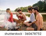 group of friends having fun at... | Shutterstock . vector #360678752