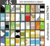 Set Business Cards Set 31