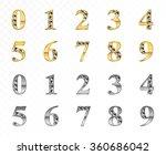 alphabetic fonts vector design | Shutterstock .eps vector #360686042