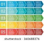 flat design. process arrows... | Shutterstock .eps vector #360688376