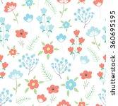 vector seamless spring floral...   Shutterstock .eps vector #360695195