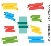 ribbon isolated vector in flat... | Shutterstock .eps vector #360696302