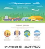 one page web design template on ... | Shutterstock .eps vector #360699602