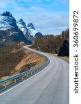 grey road in norvegian... | Shutterstock . vector #360699872