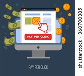 pay per click mobile... | Shutterstock .eps vector #360700385