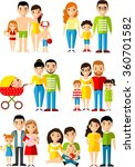all age group of european... | Shutterstock .eps vector #360701582