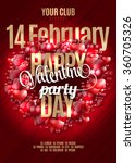 valentine's happy day party... | Shutterstock .eps vector #360705326