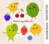 vector set of flat cartoon... | Shutterstock .eps vector #360709742
