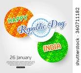 happy indian republic day... | Shutterstock .eps vector #360711182