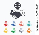 world handshake sign icon.... | Shutterstock .eps vector #360712025