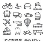 transport line icons | Shutterstock .eps vector #360715472