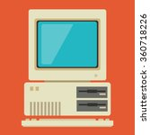 vintage personal computer with... | Shutterstock .eps vector #360718226
