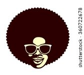 funky cool african man with...   Shutterstock .eps vector #360722678