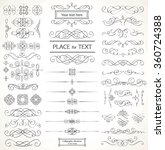 design elements   set of... | Shutterstock .eps vector #360724388