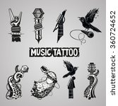 music tattoo collection.... | Shutterstock .eps vector #360724652