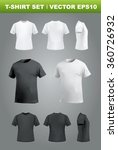 t shirt mockup set  front  side ... | Shutterstock .eps vector #360726932