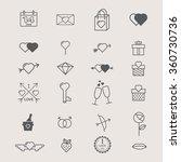 valentines day love icon set | Shutterstock .eps vector #360730736