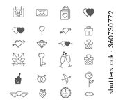 valentines day love icon set | Shutterstock .eps vector #360730772