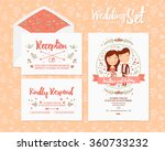 wedding set invitation from 3... | Shutterstock .eps vector #360733232