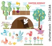 easter sunday infographic... | Shutterstock .eps vector #360736166
