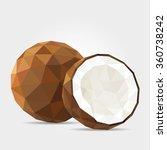 polygonal coconut in vector | Shutterstock .eps vector #360738242