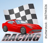 illustration of racing car with ... | Shutterstock .eps vector #360744326