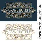 retro logo template | Shutterstock .eps vector #360744386