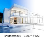 3d rendering of a luxurious... | Shutterstock . vector #360744422
