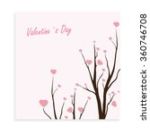 valentines day card | Shutterstock .eps vector #360746708