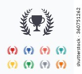 first place cup award sign icon....   Shutterstock .eps vector #360751262
