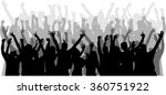 dancing people silhouettes. | Shutterstock .eps vector #360751922