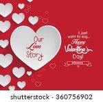 valentine's day background | Shutterstock . vector #360756902