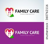 family care logo  love family... | Shutterstock .eps vector #360762116