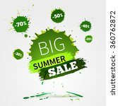 watercolor banner with ink... | Shutterstock . vector #360762872